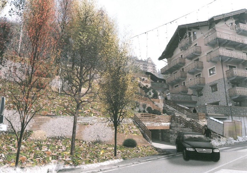 Centre of Limone – Underground parking with direct access from Via Torino
