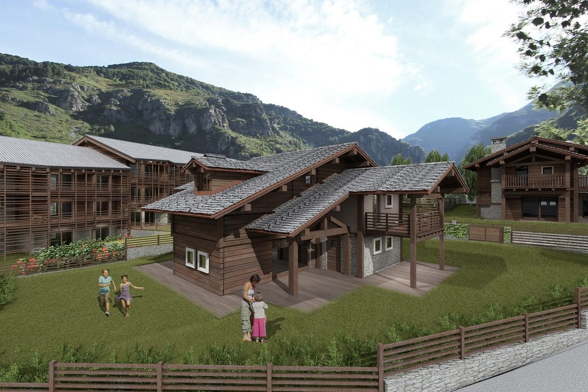 White Marmot – Three Chalets in front of the Olympic slope