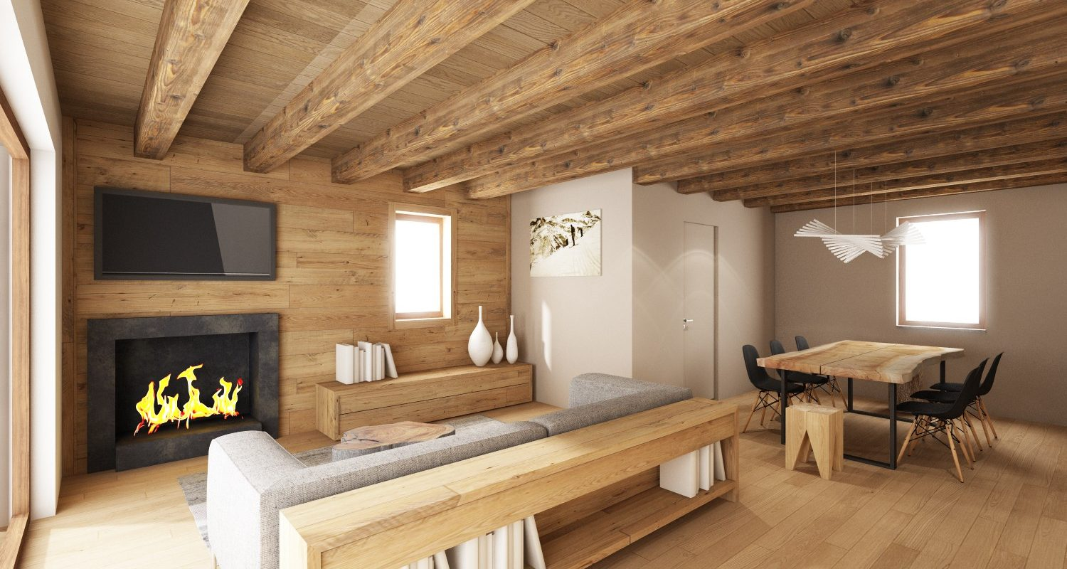 Alpine style penthouse Ski IN & Ski OUT